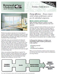 Energy Efficiency Sell Sheet